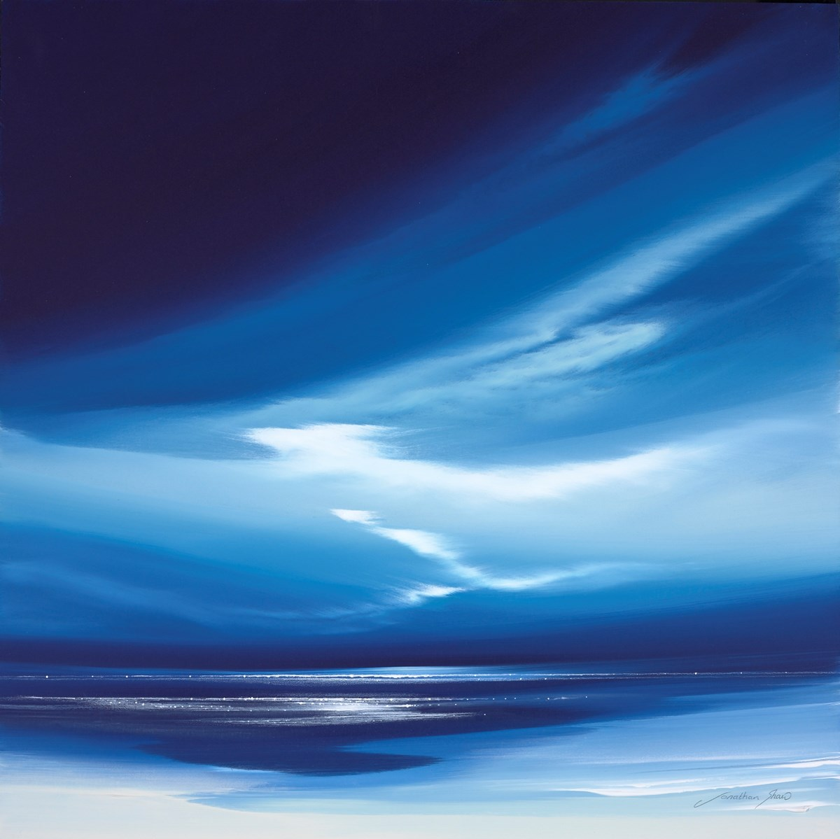Sapphire Skies III by jonathan shaw -  sized 20x20 inches. Available from Whitewall Galleries